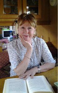 Author K.L Loveley on her narrowboat reading