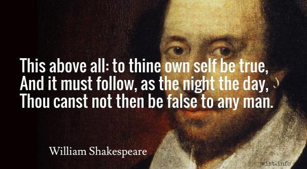 Shakespeare quote Hamlet