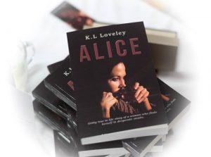 'Alice' book launch - pile of books