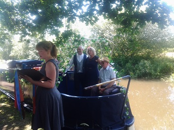 Wedding on a canal boat