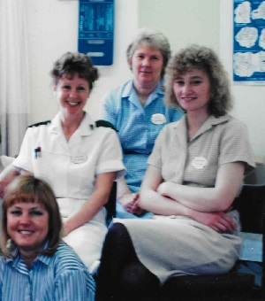 Nursing career - KL Loveley with colleagues in the hospital